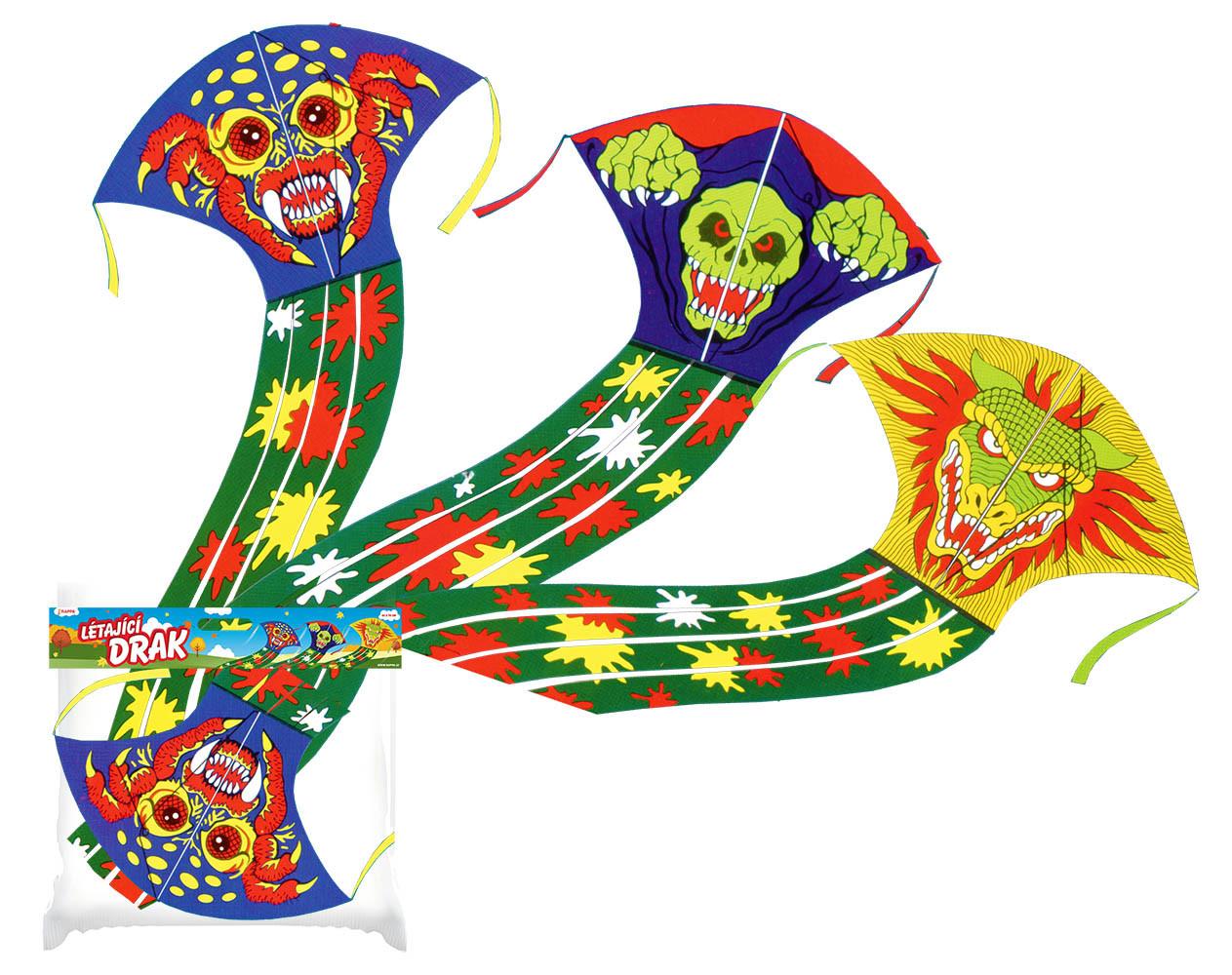 drak létající monster, 43 x 70 cm, 3 druhy
