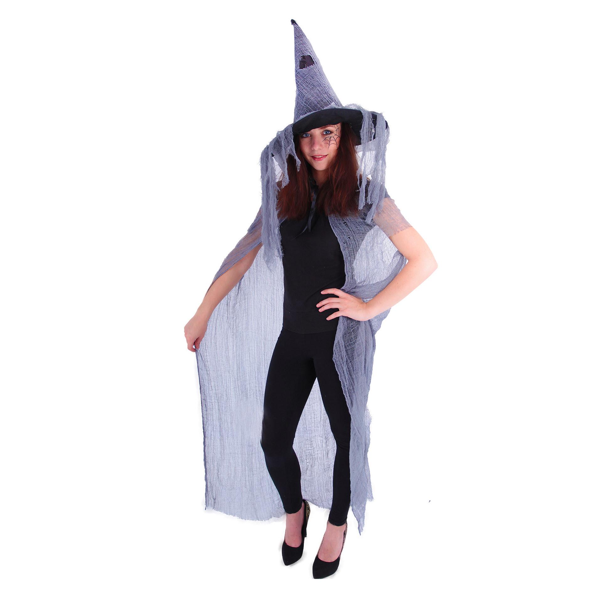 plášť čarodějnický s kloboukem, dospělý