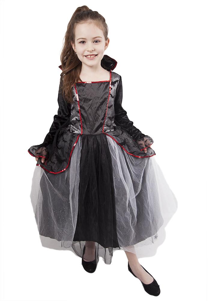 karnevalový kostým čarodějnice/Halloween s netopýry, vel. L