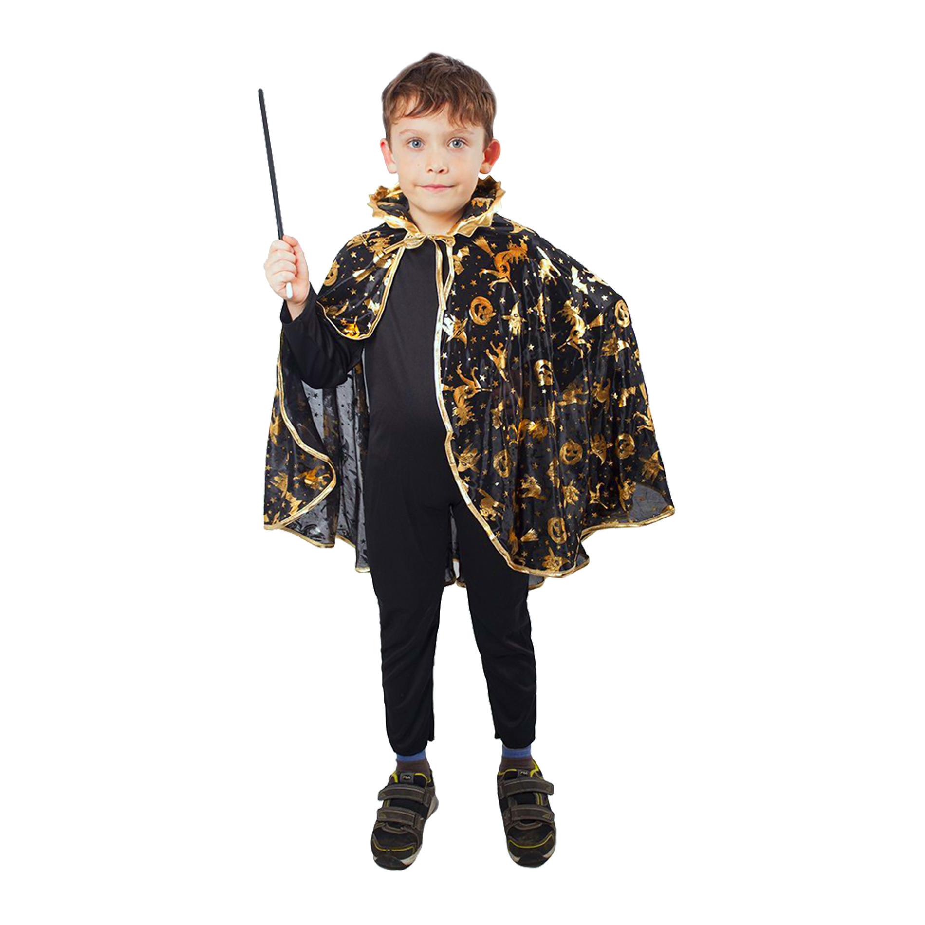 Dětský plášť Čaroděj černý