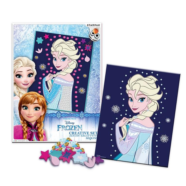 Kreativní sada Frozen s flitry