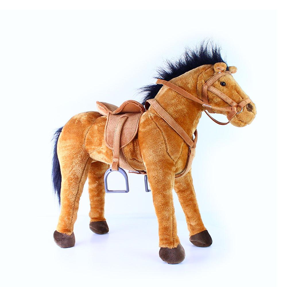 velký plyšový kůň 70 cm - možno sedět