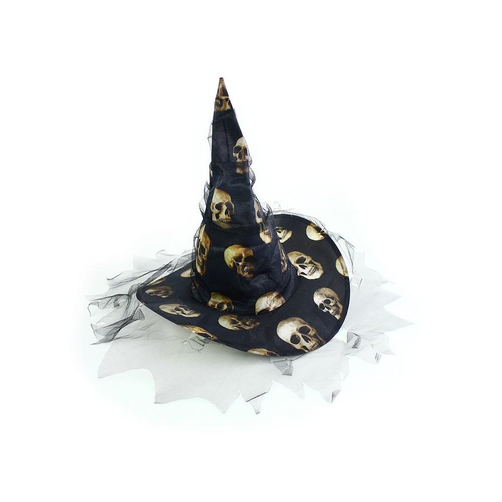 Klobouk pro dospělé - lebky, Čarodějnice / Halloween