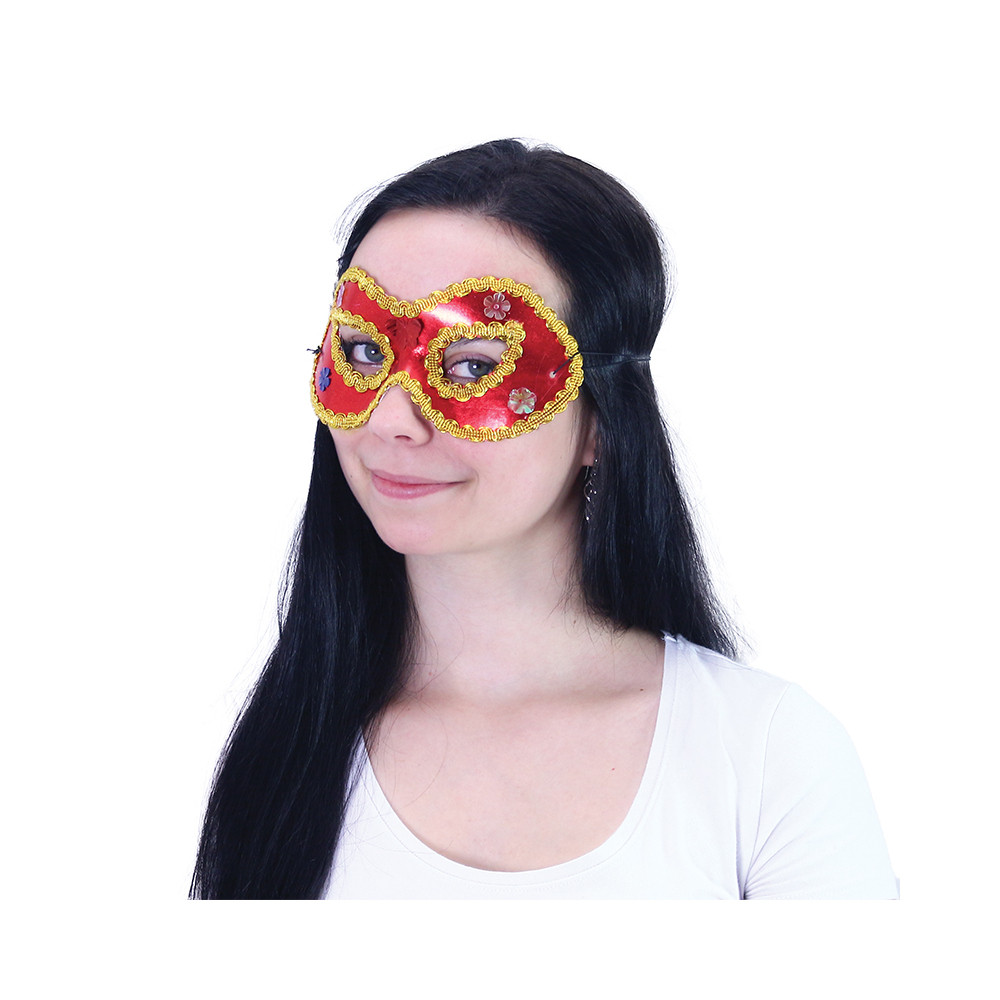 maska / škraboška s ozdobami 3 druhy