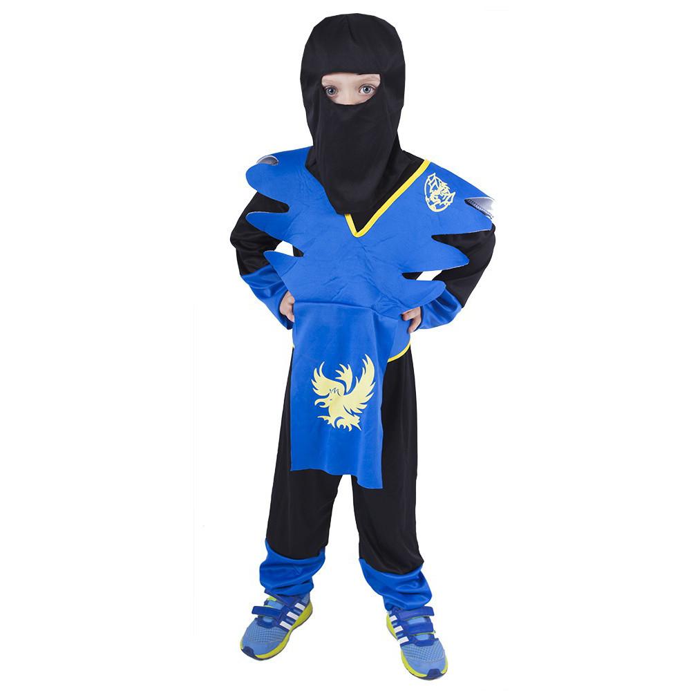karnevalový kostým NINJA modro-žlutý, vel. M