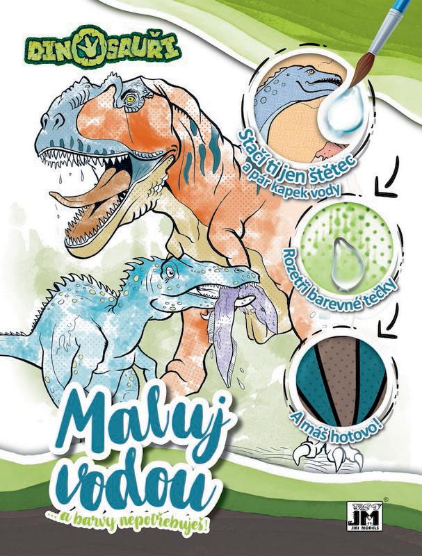 omalovánka A4 Maluj vodou Dinosauři
