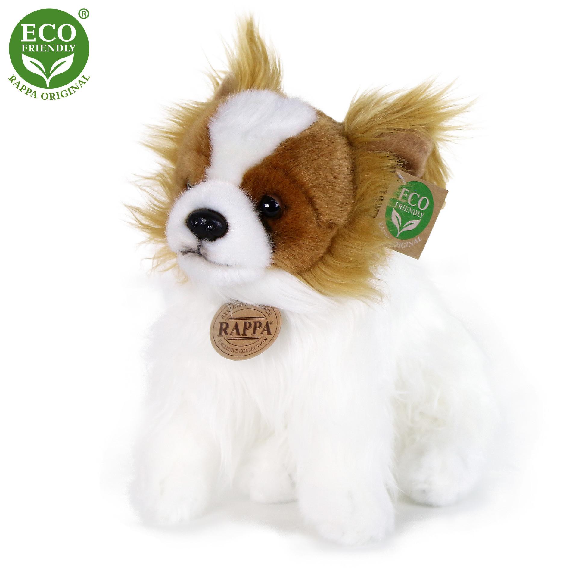 plyšový pes čivava sedící, 26 cm