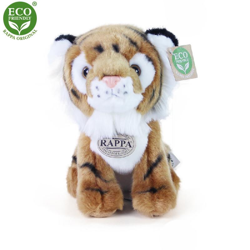 plyšový tygr sedící, 18 cm
