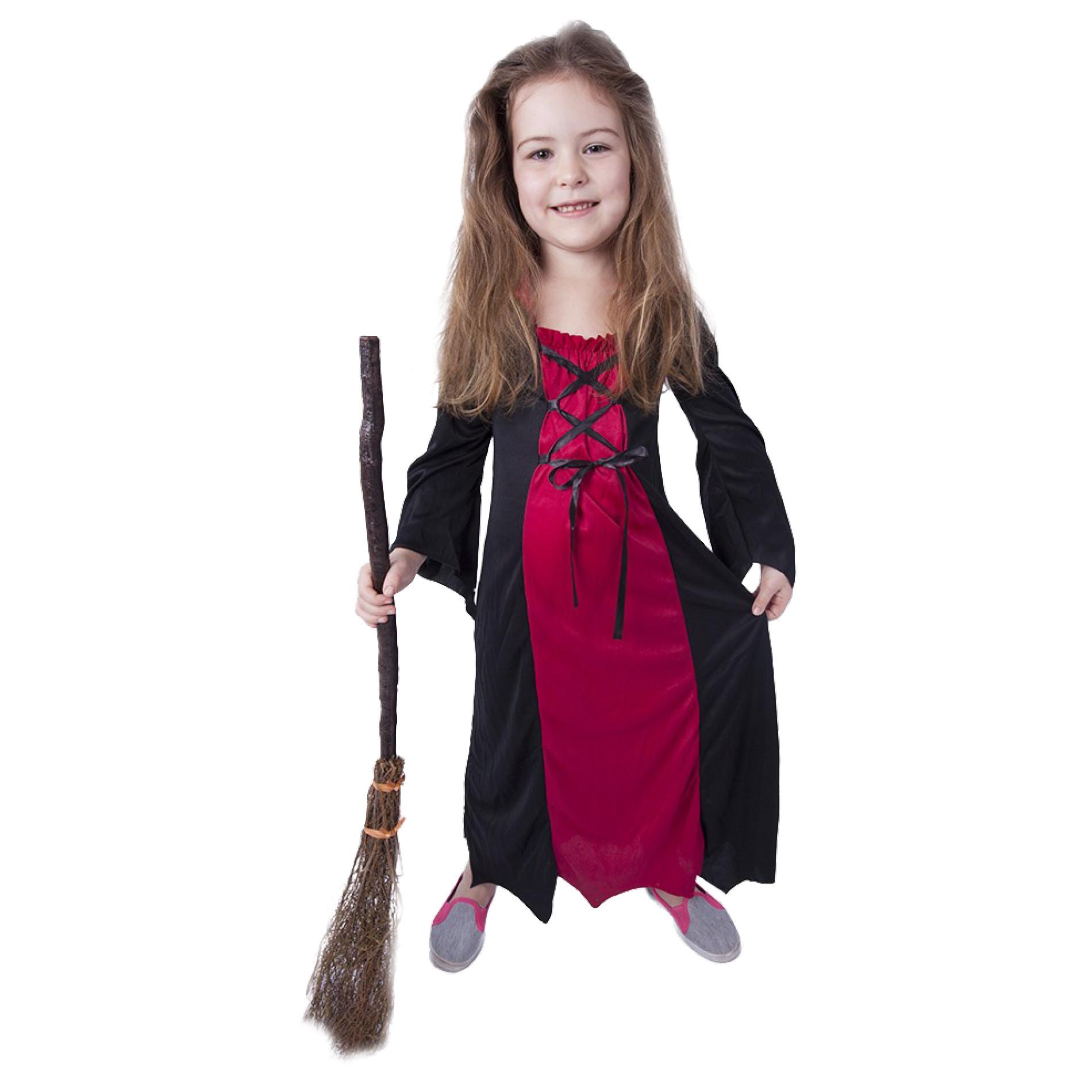 karnevalový kostým čarodějnice/halloween bordó, vel. S