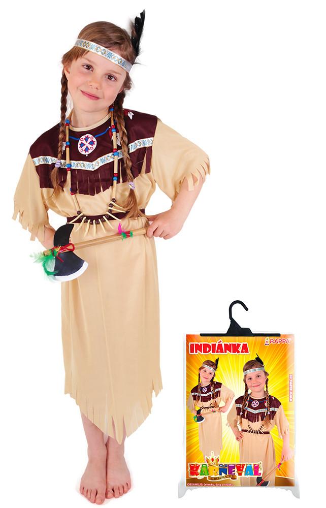 karnevalový kostým indiánka se střapci, vel. M