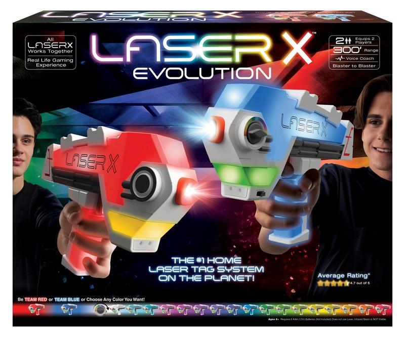 LASER X evolution double blaster set pro 2 hráče