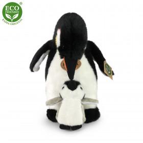 plyšový tučňák s mládětem, 22 cm