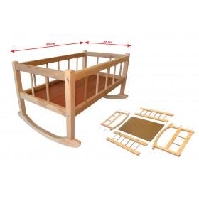 Dřevěná kolébka 50 x 28  cm