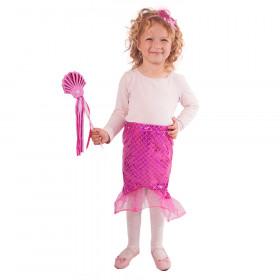 sukně s hůlkou a čelenkou mořská panna