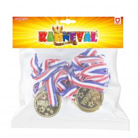 Medaile zlaté 6 ks v sáčku