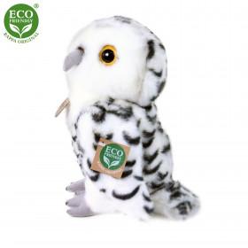 Plyšová sova bílá, 25 cm