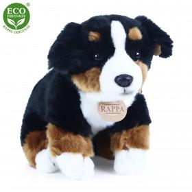 Plyšový bernský salašnický pes sedící, 25 cm