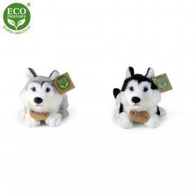 Plyšový pes husky 17 cm ECO-FRIENDLY
