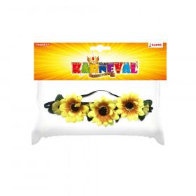 čelenka květina žlutá 3 velké květy