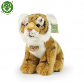 plyšový tygr hnědý sedící, 25 cm, ECO-FRIENDLY