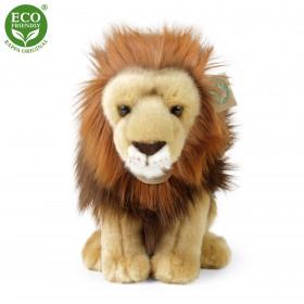 plyšový lev sedící, 25 cm, ECO-FRIENDLY