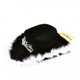 klobouk kovbojský černý s korunkou, dámský