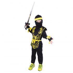 Dětský kostým NINJA žlutý (M) e-obal