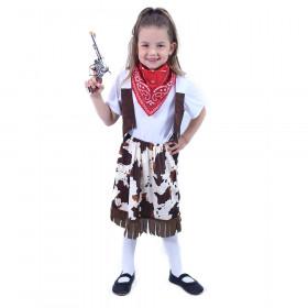 Dětský kostým kovbojka s šátkem (S)