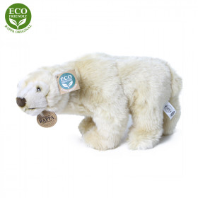 Plyšový lední medvěd stojící 33 cm ECO-FRIENDLY