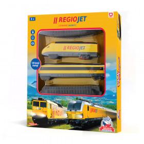 NAŠE ŽELEZNICE vlak RegioJet se zvukem a světlem - originální funkční hračka