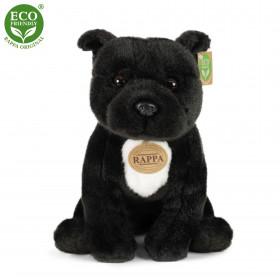 Plyšový pes stafordšírský bulteriér 30 cm černý ECO-FRIENDLY