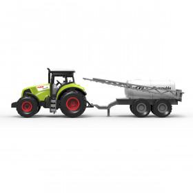 Traktor plastový se zvukem a světlem s vlečkou na postřik