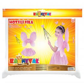 Karnevalový kostým květinka s křídly