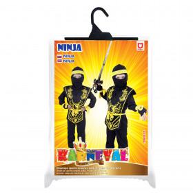Dětský kostým Ninja žlutý (M)