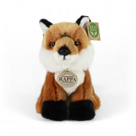 plyšová liška sedící, 18 cm