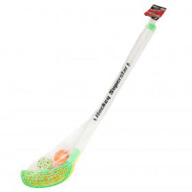hokejky florbalové s míčkem a pukem 80 cm