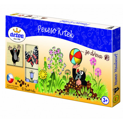 Pexeso Krtek, dřevěné