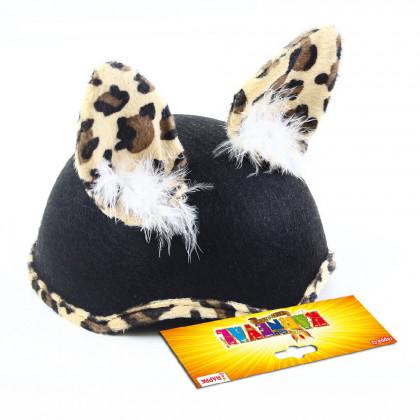 Dětský klobouk kočka s peřím