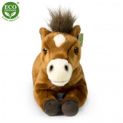 plyšový kůň ležící 35 cm