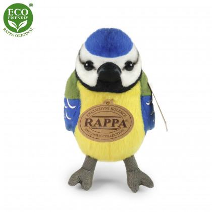 plyšový pták sýkora modřinka se zvukem, 11 cm