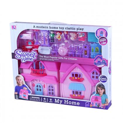 Domeček pro panenky se světlem a zvukem