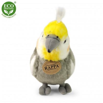 plyšový papoušek Korela chocholatá, 20cm