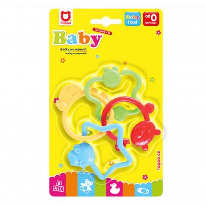 Chrastítko BABY tvary zvířátka