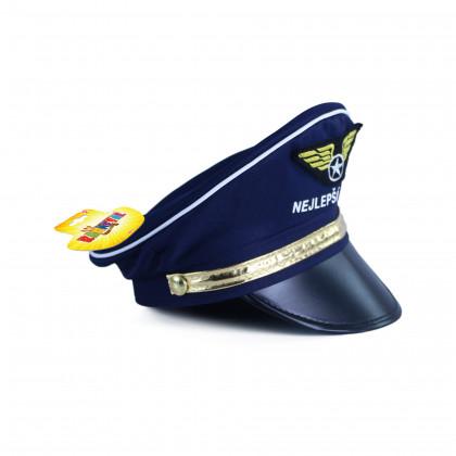 Dětská čepice s nápisem nejlepší pilot
