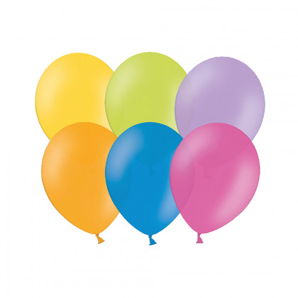 balónek nafukovací 30 cm metalický v uzavíratelném balení