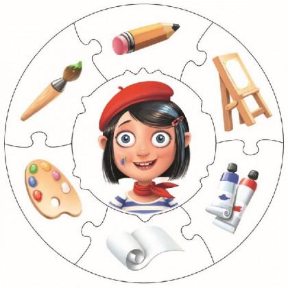 Profese 1 - naučné puzzle 21 dílů