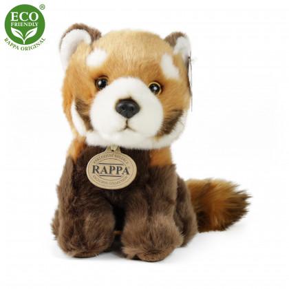 plyšová panda červená, sedící, 18 cm