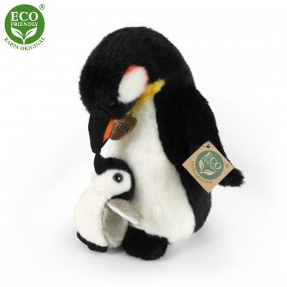 plyšový tučniak s mláďaťom, 22 cm