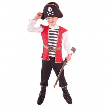 Detský kostým Pirát s klobúkom (M)