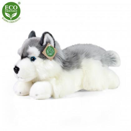 Plyšový pes husky ležiaci 30 cm ECO-FRIENDLY